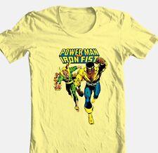 Power Man Iron Fist T-shirt retro comic superhero Luke Cage vintage cotton tee