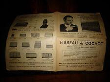 Dépliant Ets Fisseau & Cochot Paris Accessoire Ecrin Montre Ancienne Horlogerie