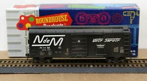 Roundhouse HO 40' Boxcar Nacionales De Mexico N de M Custom Decorated & Upgraded