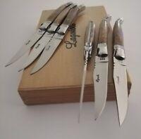 Original Laguiole 6 Piece Steak Knives Wood Handles In Gift Box