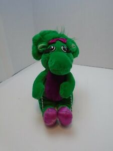 "VTG 10"" Barney the Dinosaur Baby Bop Stuffed Plush Stuffed Toy D1"