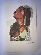 Andy Warhol Litografia 57 x 38 Arches France Timbro Secco Galleria Arte A010