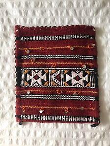 Moroccan Kilim Berber Handmade Wool Sac Bag Purse w/Shoulder Strap