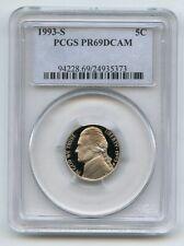 1993 S 5C Jefferson Nickel Proof PCGS PR69DCAM