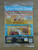 Panini Adrenalyn XL Uefa Euro EM 2020 1x Premium Gold Booster 4x Limited Edition