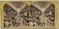 Londra London Esposizione 1862 La Grand Nef Foto Vintage Stereo Albumina