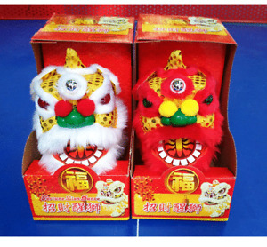 Handcrafted Chinese-style Lion Dance Electric Toy Lamp (Red/White) China 1CPS