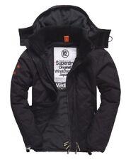 BNWT Mens Superdry Quilted Hooded Polar Windcheater Black, Medium, M, RRP £80