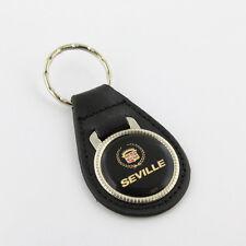 GM Cadillac Seville USA Logo US Muscle Car Echt Leder Schlüsselanhänger Anhänger
