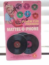 Vintage 1967 Mattel O Phone Discs Records New NIP Sealed 6 Talking Sides VGC