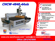 CNC Warehouse CNC Router/Engraver/3D Carver Model CNCW-4848-with Rotary