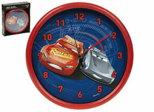Disney Cars lightning McQueen & Jackson Storm Bedroom Wall Clock Gift Present