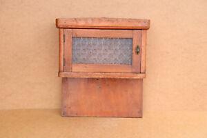 Antique Primitive Wooden Wood Cupboard Cabinet Chest Box Shelf Rack 1950's