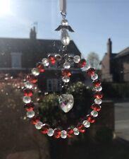 Red Crystal Sun-catcher July Birthstone - Guardian Angel, Birthday Gift