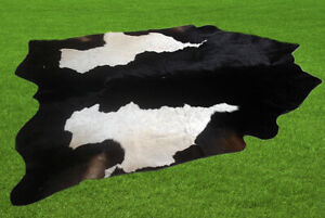 "New Cowhide Rugs Area Cow Skin Leather 26.13 sq.feet (66""x57"") Cow hide U-1651"