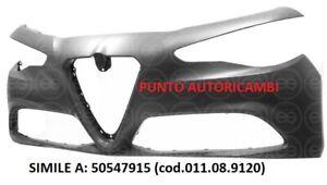 PARAURTI ANTERIORI C/PRIMER C/2 TRACC SENS + LAV ALFA ROMEO GIULIA 03/2016 NUOVO
