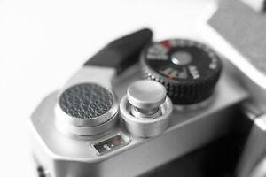 Silver Metal Shutter Button Soft Release Metal Concave - Fuji X20 X100 XT2  etc