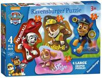 Ravensburger 07032 Paw Patrol Four Character Shaped Childrens Jigsaw Puzzle New