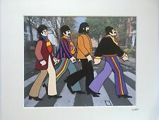 The Beatles - Yellow Submarine & Abbey Road Crossing - Hand Drawn/Painted Cel