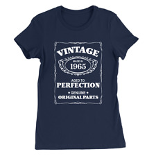 Aged To Perfection 1965 Womens T-Shirt 53rd Birthday 53 Years Old Gift Top