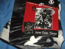 The Nightmare Before Christmas Jack Oogie Grave Storm Disney Plush Throw Blanket
