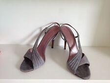 Jean-Michel Cazabat Grey Suede Sandals Heels Sz UK 5.5/EU 38.5