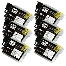 6 BLACK Ink Cartridge for Series LC61 Brother MFC J410w J415w J615W J630W 5890CN