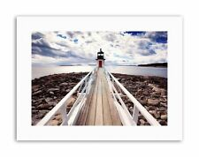 Marshall Point Lighthouse Seascape Photo Poster Picture Canvas Art Prints
