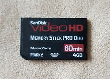 SanDisk Memory Stick PRO Duo 4GB videoHD Mark 2 MagicGate SONY PSP Card Genuine