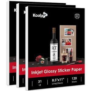 360 Full Sheets Koala Printable Glossy Sticker Label Paper for Inkjet 8.5x11 DIY