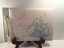 Vintage 1950's Cradle Days Unused Baby Keepsake Scrap Book