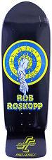 SANTA CRUZ Roskopp Target 1 Black Oldschool Deck- Skateboard Longboard