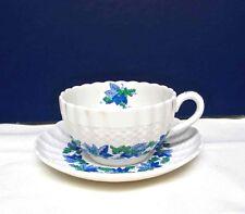 Spode Copeland Porcelain Cup & Saucer Valencia S1248 Grapes & Vines England