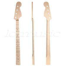 Maple Wooden 4 Strings Bass Guitar Neck 21 Frets w Nut for JP Style Bass J P