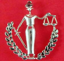 Attorney/ Lawyer/ Legal Pendant/ Brooch Pin *w/ Bale* Nwot Scales Of Justice/