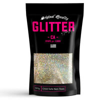 Silver Gold Holographic Premium Glitter Multi Purpose Dust Powder 100g / 3.5oz