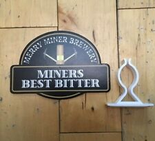 MERRY MINER BREWERY BEST BITTER GENUINE PUMP CLIP HAND PULL PRODUCT ADVERTISING