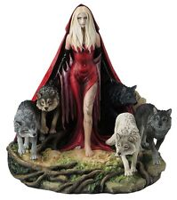 "9.5"" HOWL By Ruth Thompson Statue Fantasy Sculpture Gothic Decor Wolf Wolves"
