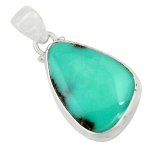 15.08cts Natural Green Campitos Turquoise 925 Sterling Silver Pendant R12805