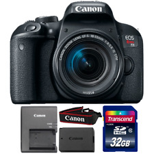 Canon EOS Rebel T7i DSLR Camera with 18-55mm IS STM Lens and 32GB Memory Card