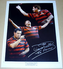 DENNIS PRIESTLEY DARTS PERSONALLY SIGNED AUTOGRAPH 16X12 PHOTO