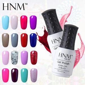 HNM Colour Nail Gel Polish Varnish UV LED Base Top Mannicure 8ML Set DIY Lacquer
