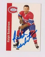 1994 Parkhurst Ralph Backstrom Montreal Canadiens Autographed Card