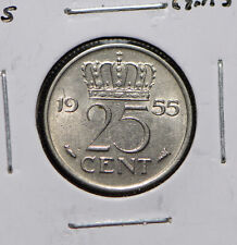 Netherlands 1955 25 Cents  900217 combine shipping