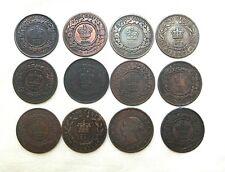 12 1800's Nova Scotia Newfoundland & Prince Edward Island New Brunswick Cents