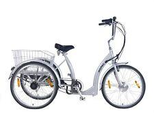 Popal 2405E Senioren Elektro Dreirad 7 Gang E-Bike Fahrrad Elektrodreirad Silber