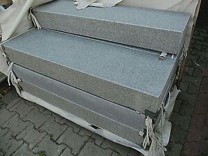 Blockstufe Granit PADANG DARK geflammt, von 50-200 cm Länge, Tritt+ Frostsicher