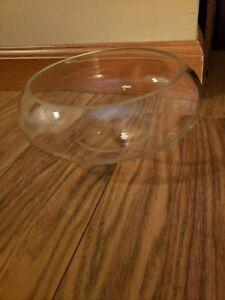 Glass Shallow Round Vase