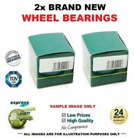 2x Front WHEEL BEARINGS for IVECO DAILY Platform/Chassis 45C/E 50C/e 2016->on