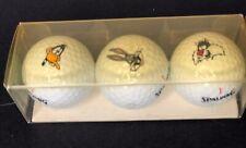 Looney Tunes 3 Three Vintage Spalding Golf Balls  Bugs Bunny, Sylvester, Daffy